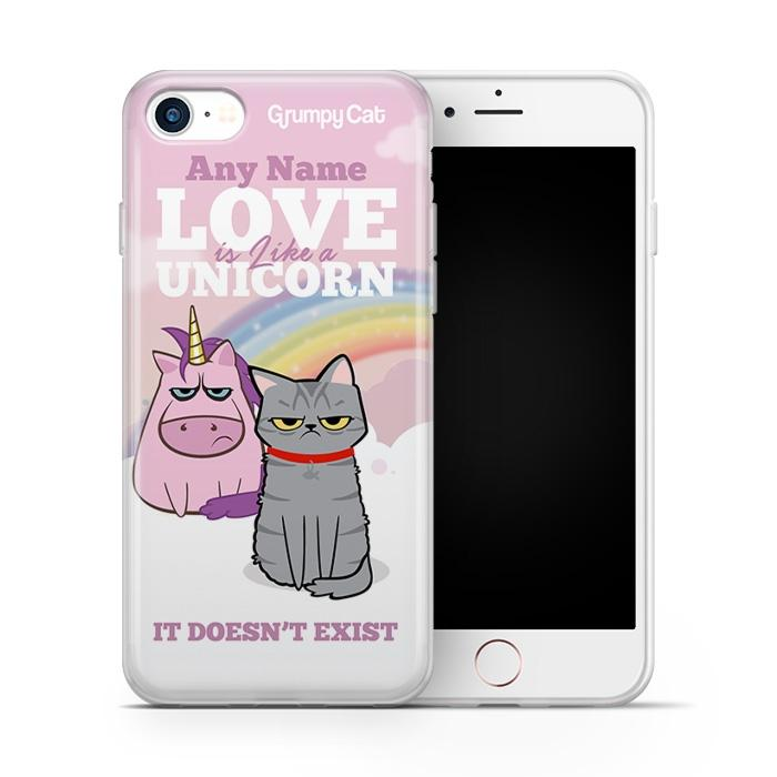 Grumpy Cat Unicorn Phone Case - Image 1