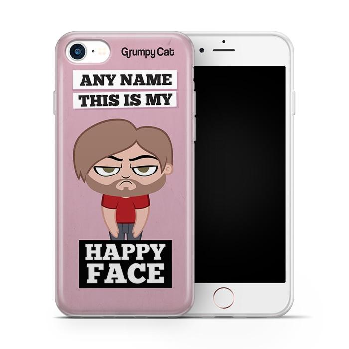 Grumpy Cat Happy Face Phone Case - Image 1