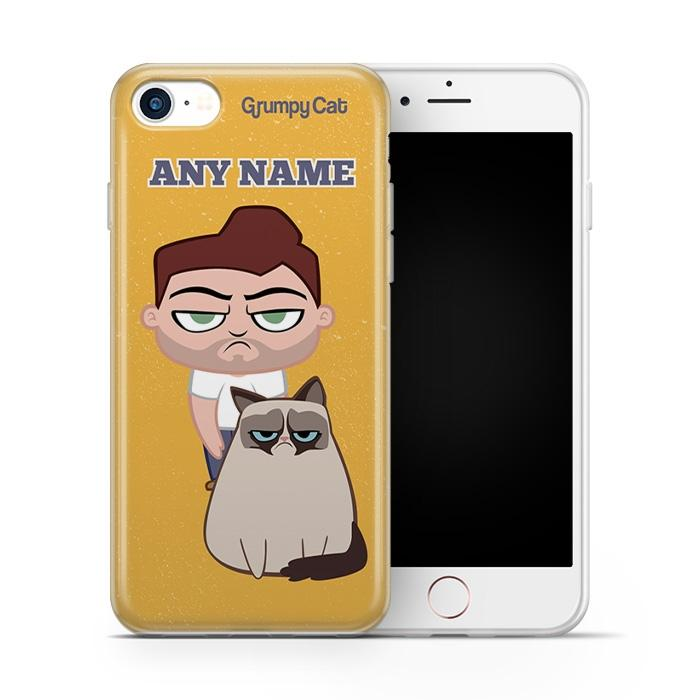 Grumpy Cat Yellow Phone Case - Image 1