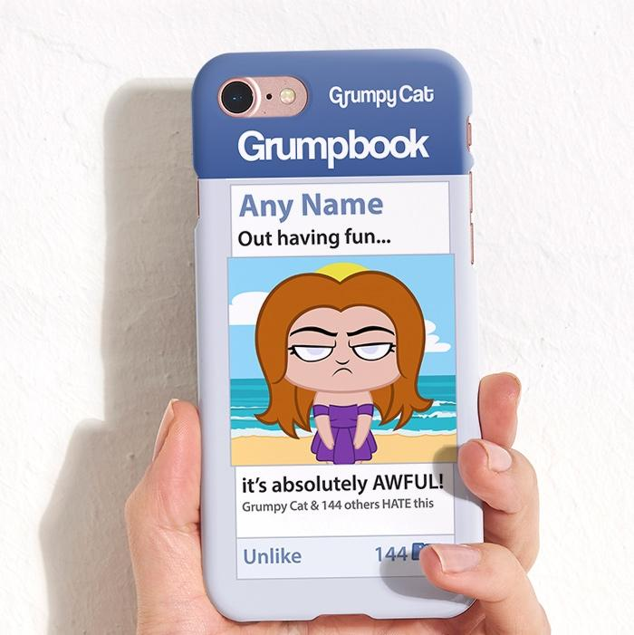 Grumpy Cat Hatebook Phone Case - Image 0