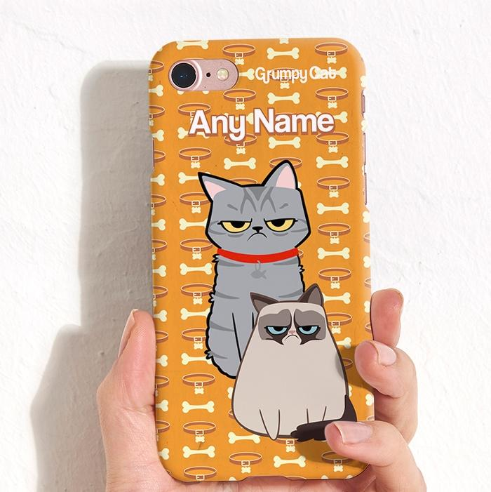Grumpy Cat Bone Collar Phone Case - Image 0