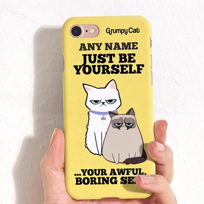 Grumpy Cat Be Yourself Phone Case - Image 1