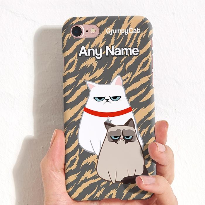 Grumpy Cat Animal Print Phone Case - Image 3