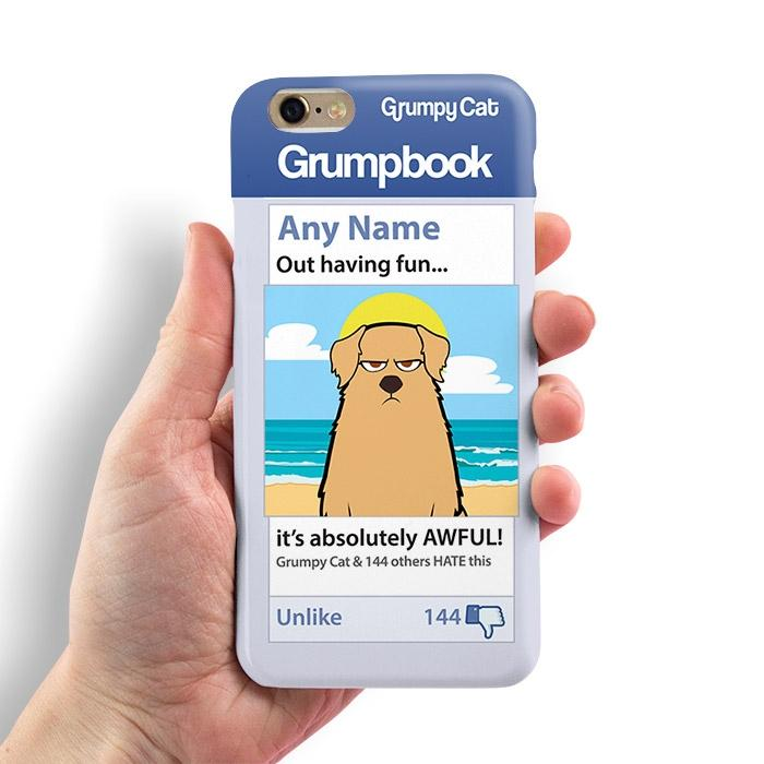 Grumpy Cat Hatebook Phone Case - Image 2