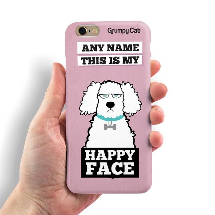 Grumpy Cat Happy Face Phone Case - Image 2