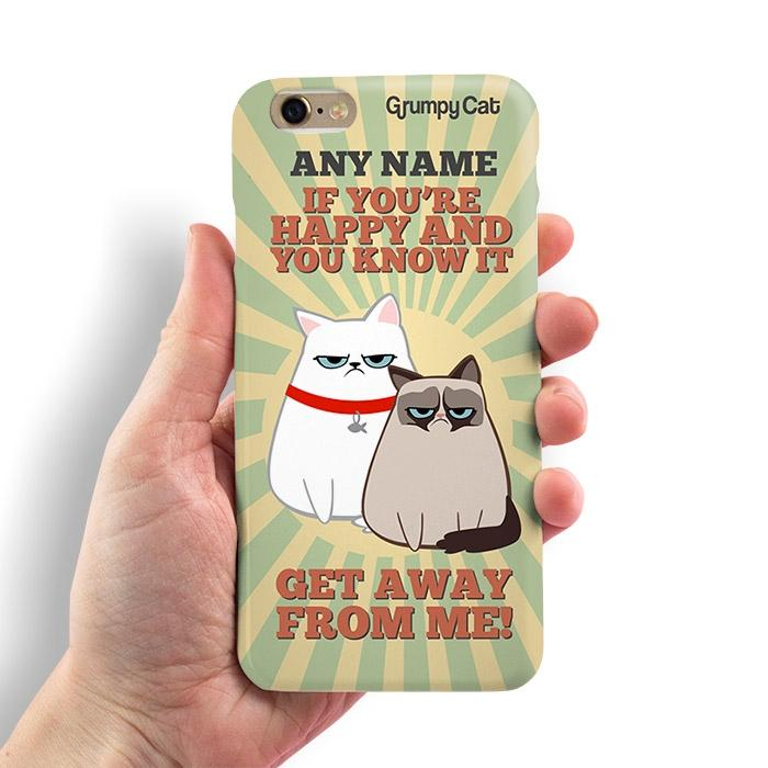 Grumpy Cat Happy Phone Case - Image 1