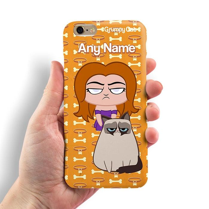 Grumpy Cat Bone Collar Phone Case - Image 1