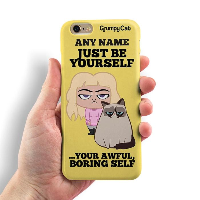 Grumpy Cat Be Yourself Phone Case - Image 0