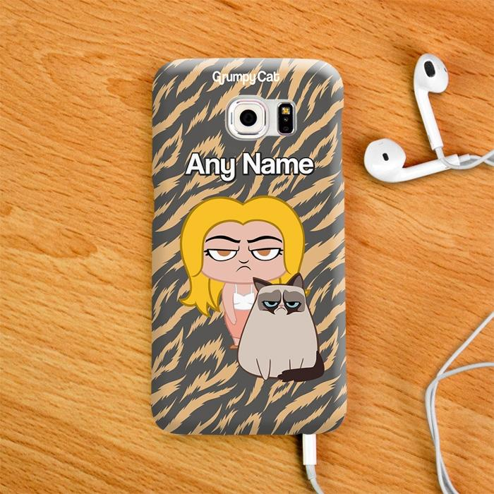 Grumpy Cat Animal Print Phone Case - Image 2