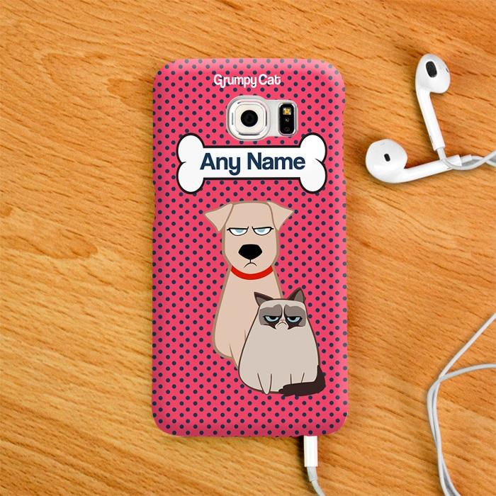 Grumpy Cat Polka Dot Phone Case - Image 2