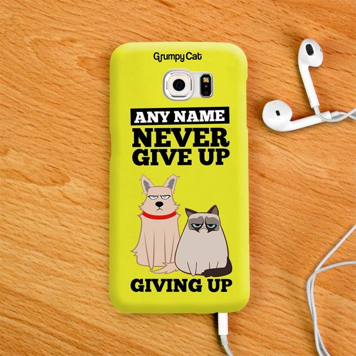 Grumpy Cat Give Up Phone Case - Image 2