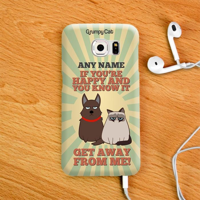 Grumpy Cat Happy Phone Case - Image 2
