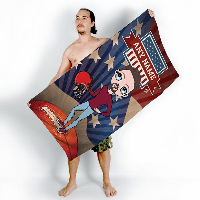 MrCB American Football Beach Towel - Image 2