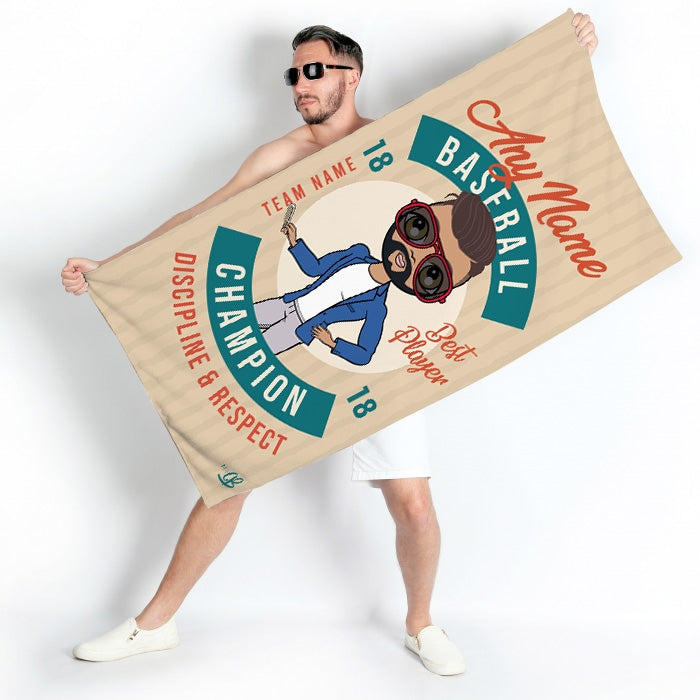 MrCB Retro Baseball Beach Towel - Image 4