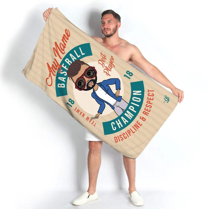 MrCB Retro Baseball Beach Towel - Image 1