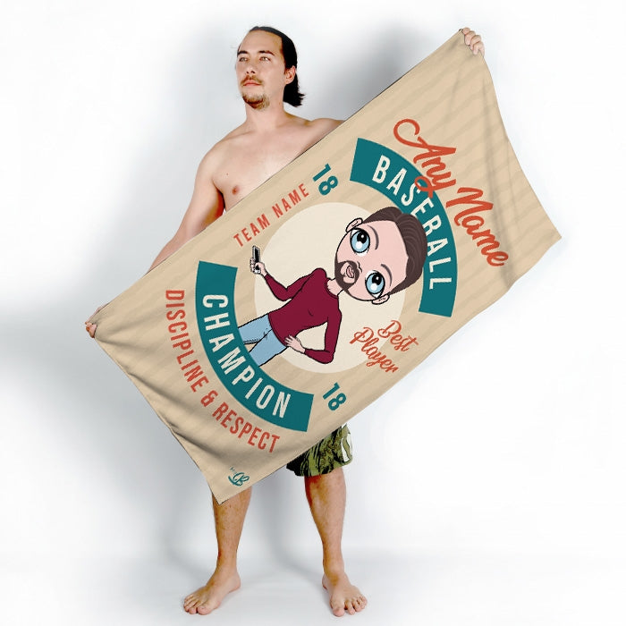 MrCB Retro Baseball Beach Towel - Image 2