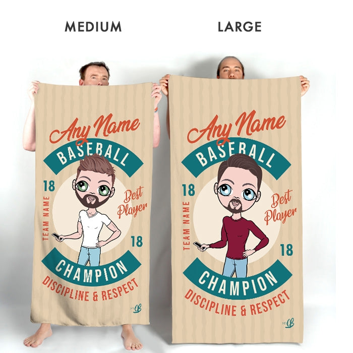 MrCB Retro Baseball Beach Towel - Image 3