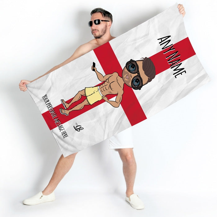 MrCB England Flag Beach Towel - Image 2
