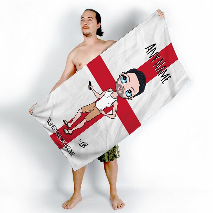 MrCB England Flag Beach Towel - Image 4