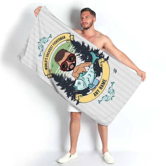 MrCB Greatest Fisherman Beach Towel - Image 4