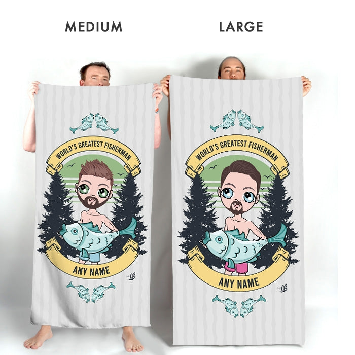 MrCB Greatest Fisherman Beach Towel - Image 3