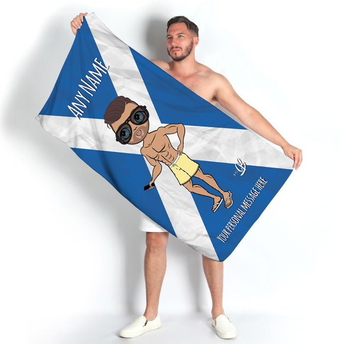 MrCB Scottish Flag Beach Towel - Image 1