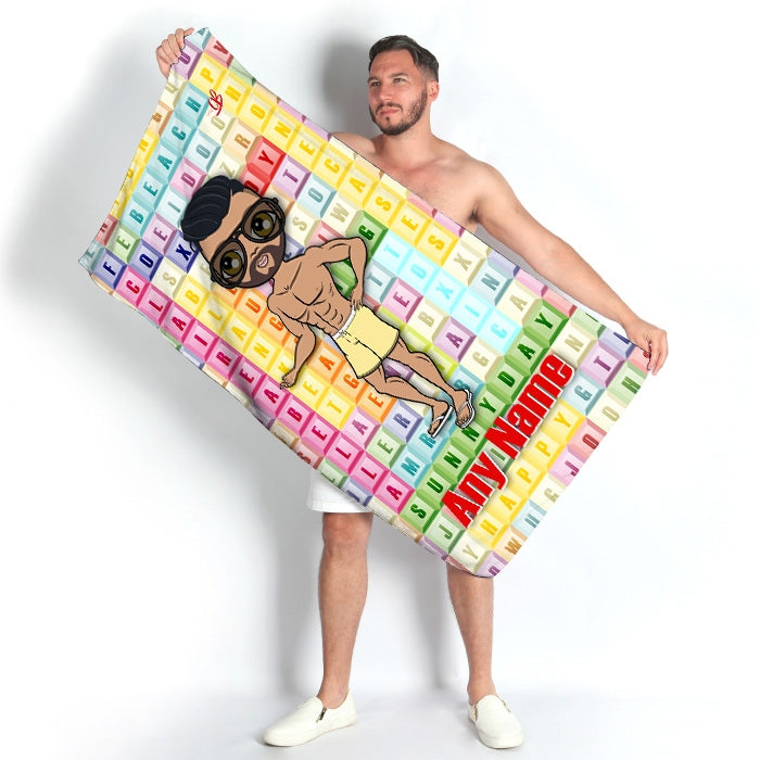 MrCB Word Search Beach Towel - Image 3