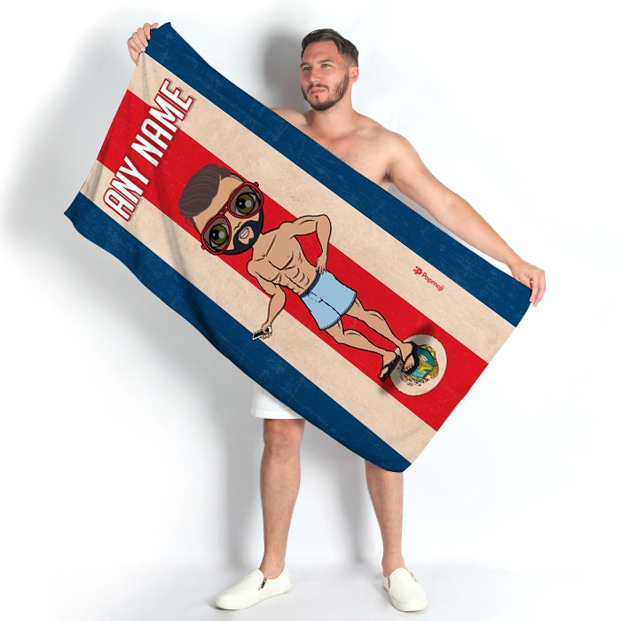 MrCB Love Costa Rica Flag Beach Towel - Image 1