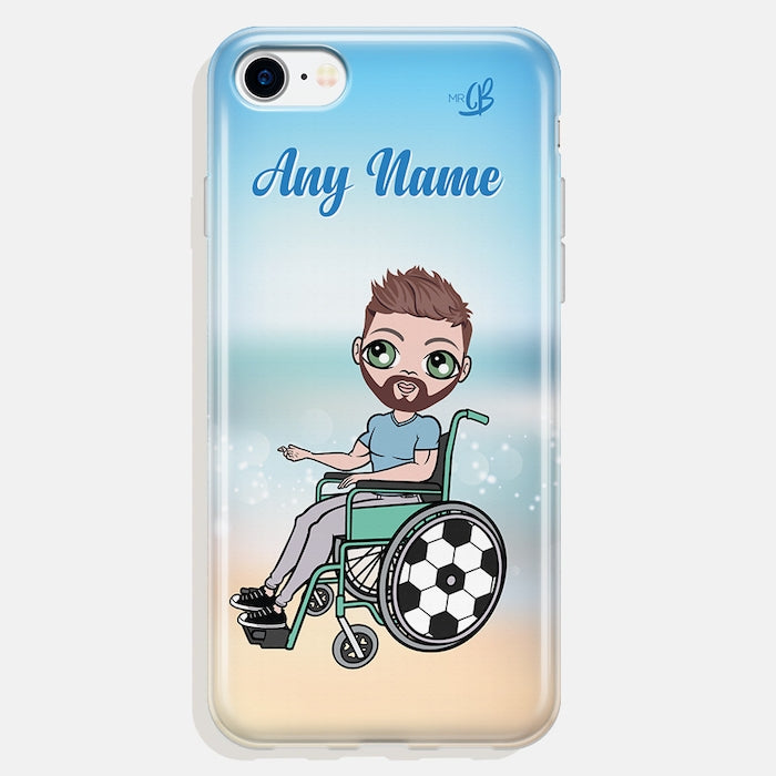 MrCB Wheelchair Personalized Beach Colors Phone Case - Image 2