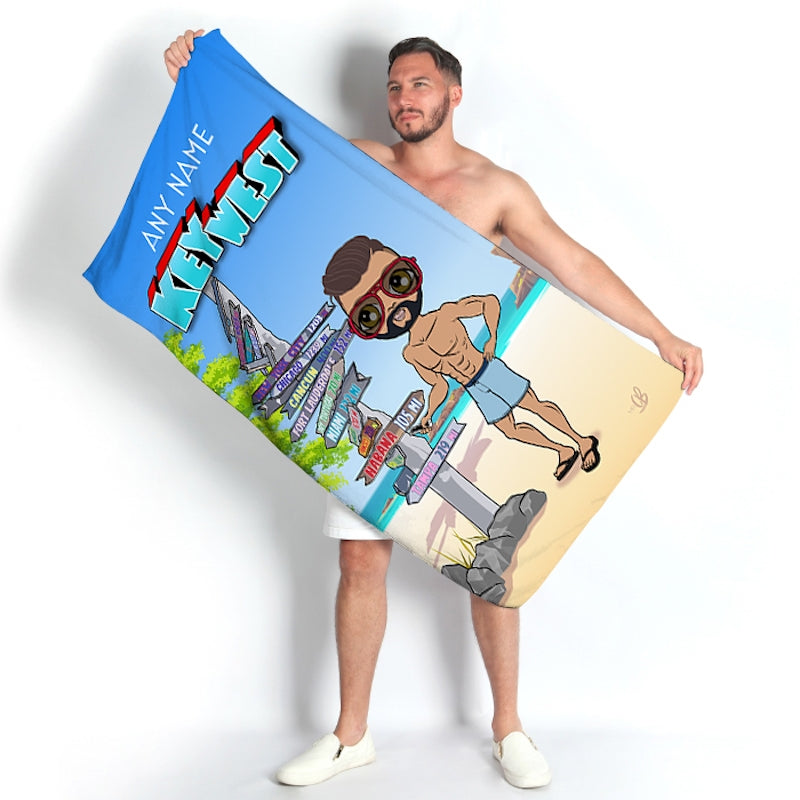 MrCB Key West Beach Towel - Image 1