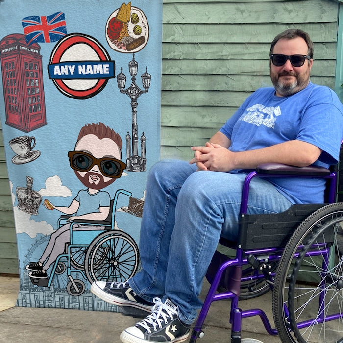 MrCB Love London Wheelchair Beach Towel - Image 1