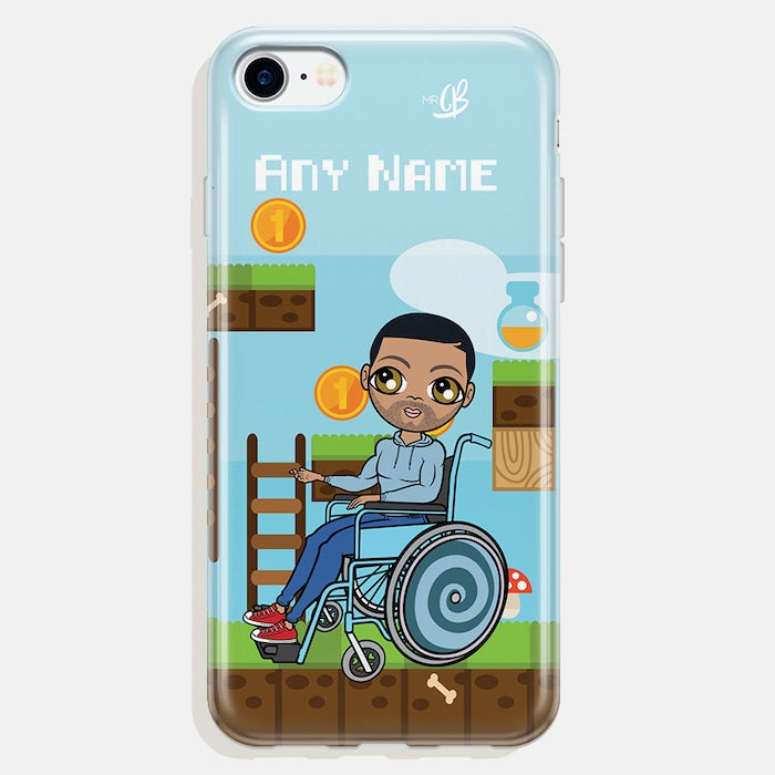 MrCB Wheelchair Personalized Gamer Phone Case - Image 1