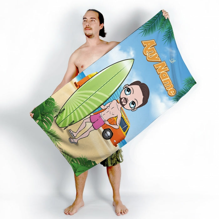 MrCB Surfer Dude Beach Towel - Image 2