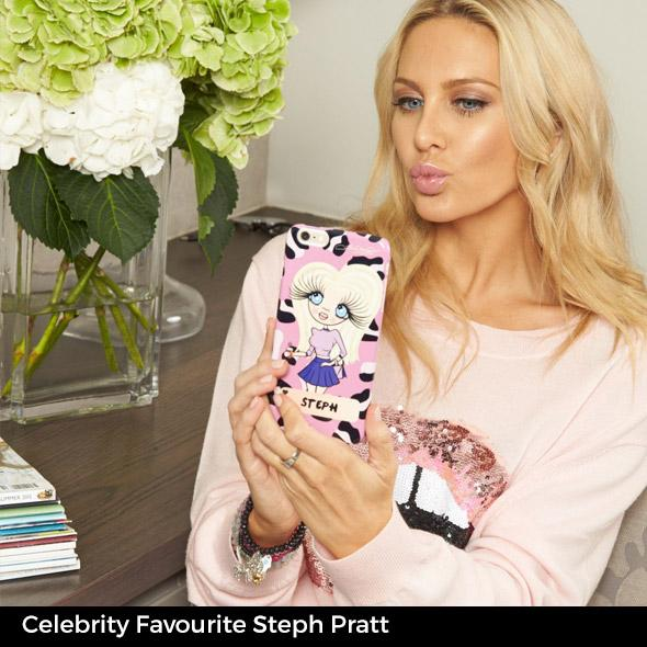 ClaireaBella Personalized Lilac Leopard Phone Case - Image 9
