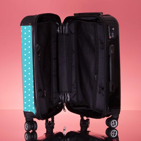 ClaireaBella Polka Dot Suitcase - Image 7
