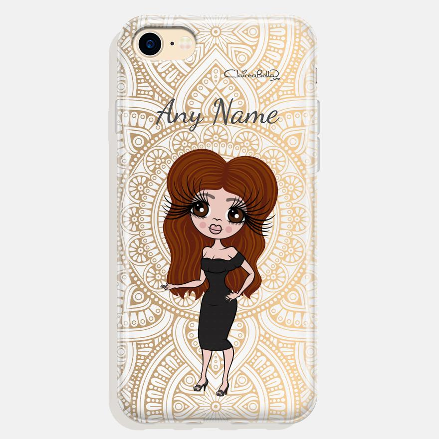 ClaireaBella Personalized Golden Lace Phone Case - Image 0