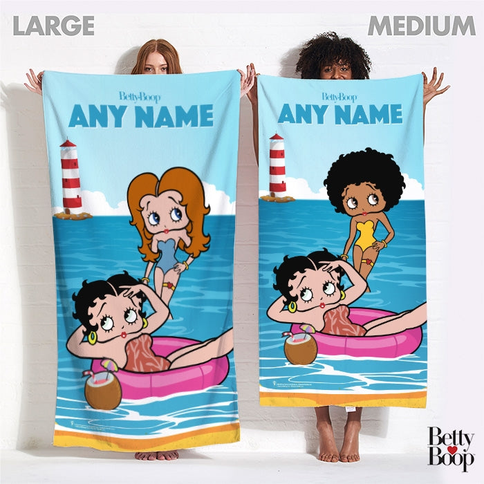 Betty Boop Cute Summer Vibes Beach Towel - Image 4