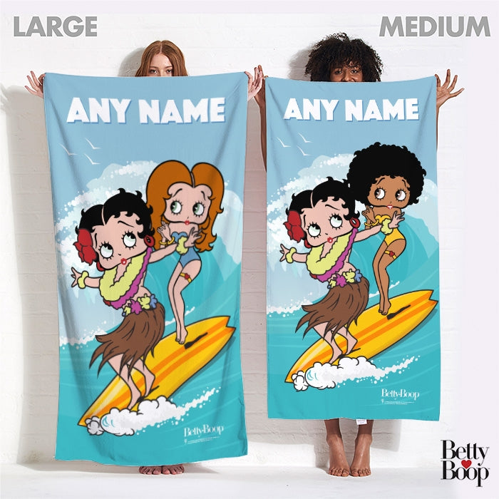 Betty Boop Surfing Betty Beach Towel - Image 4