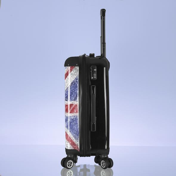 ClaireaBella Glitter Effect Union Jack Suitcase - Image 6