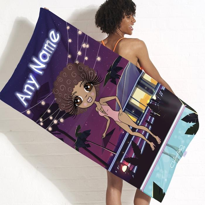 ClaireaBella Villa Of Love Beach Towel