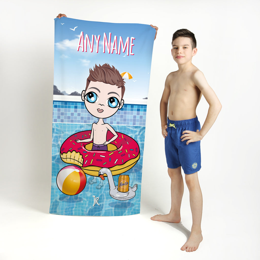 Jnr Boys Pool Party Beach Towel