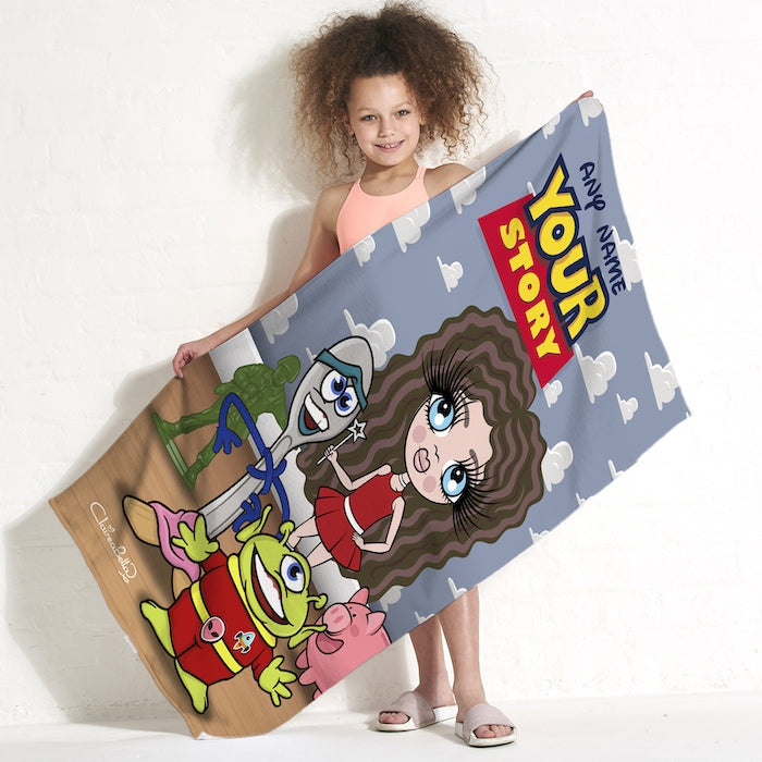ClaireaBella Girls Your Story Beach Towel - Image 1