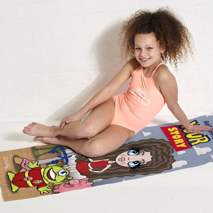 ClaireaBella Girls Your Story Beach Towel - Image 3