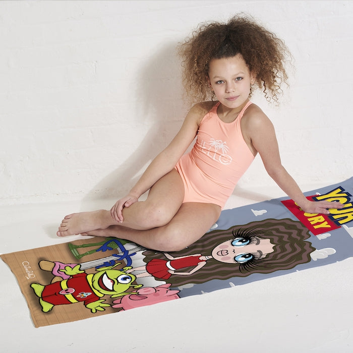 ClaireaBella Girls Your Story Beach Towel - Image 4