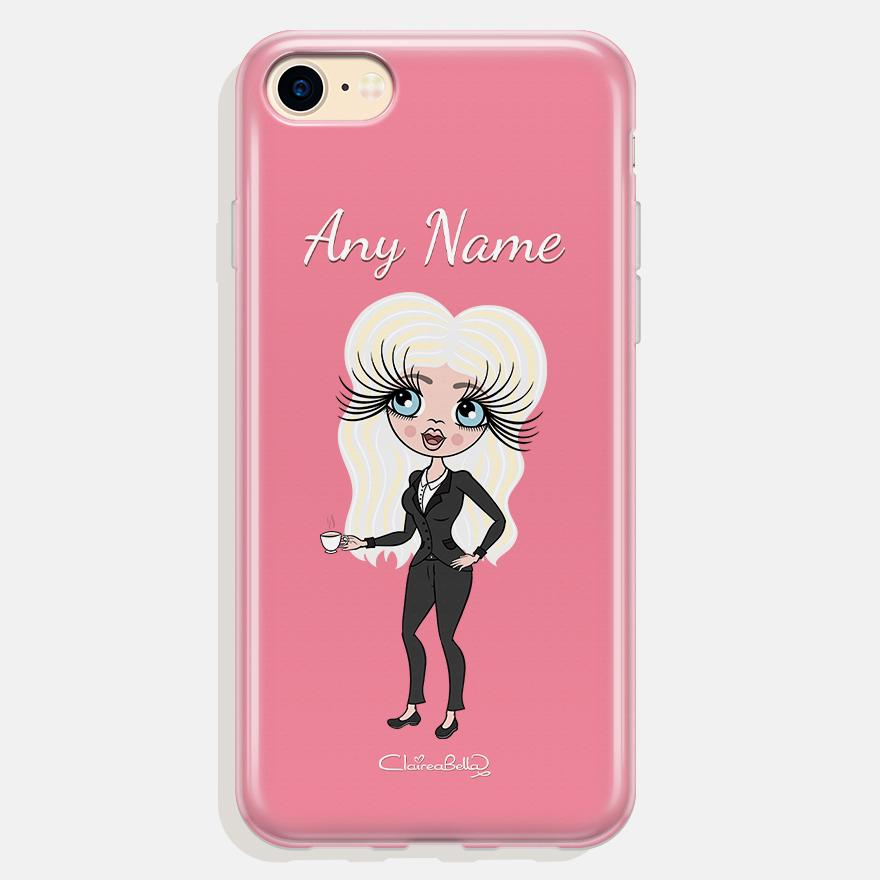 ClaireaBella Personalized Pink Phone Case - Image 0