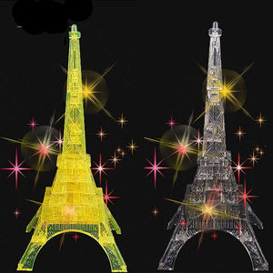 LED Flash Eiffel Tower 3D Crystal Puzzle