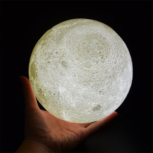 Enchanting 3D LED Moon Lamp