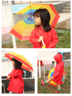 Cute Small Dinosaur Waterproof Polyester Rain Coat