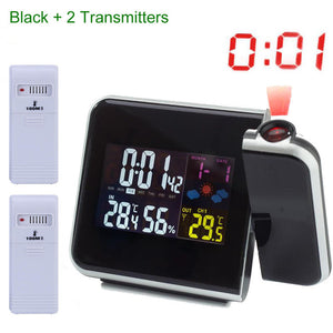 Digital Projection Alarm Clock with Thermometer