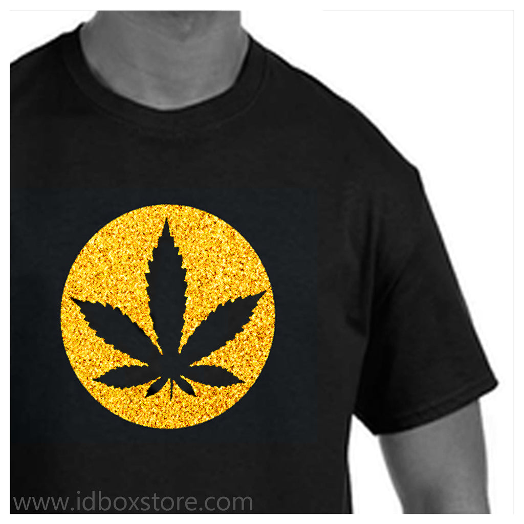 420 Gold Glitter Weed Love